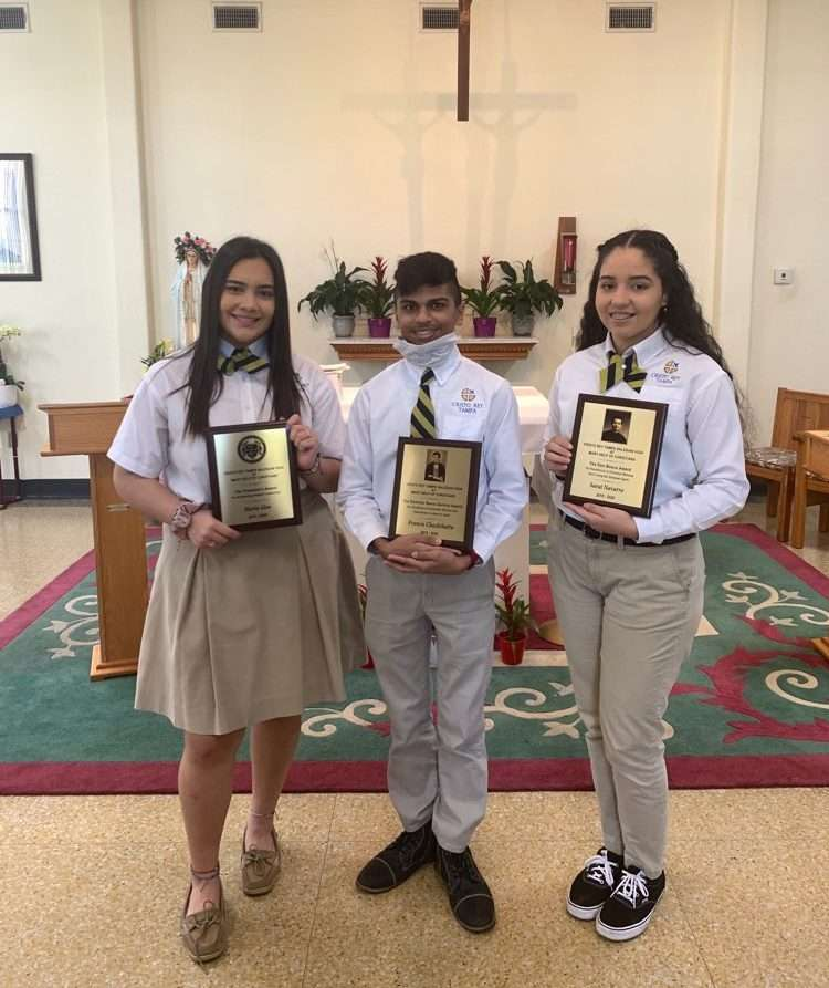 Students recognized for Leadership, Service, and Spirituality