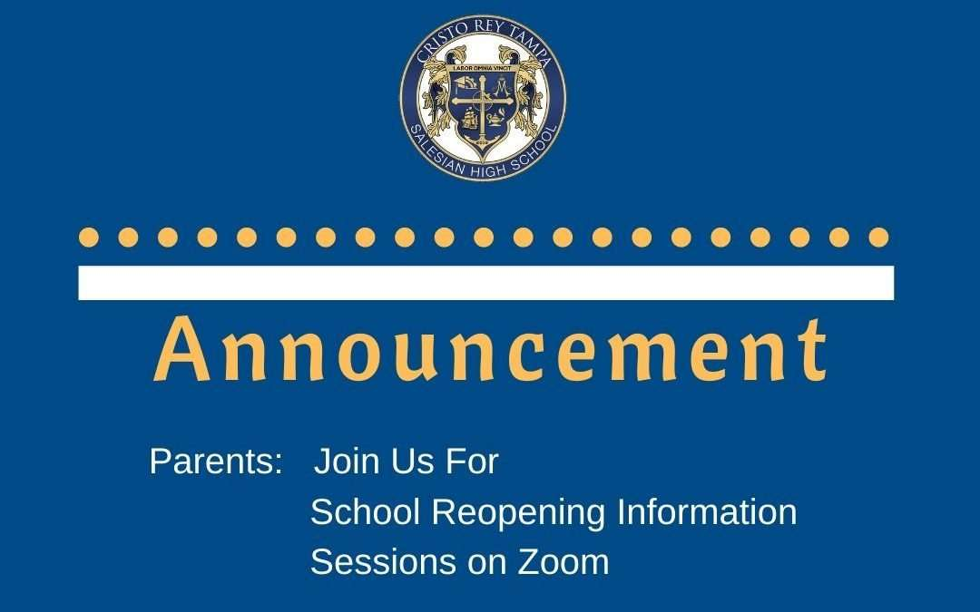 School Reopening Info Sessions for CRT Families