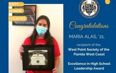 West Point Society of Florida West Coast Recognizes CRT Student
