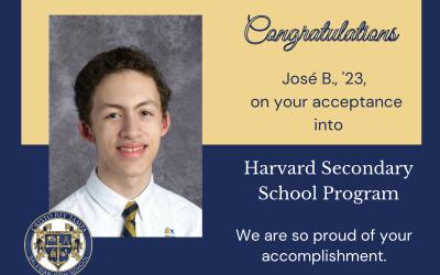 José B., '23, is Harvard Summer School Bound