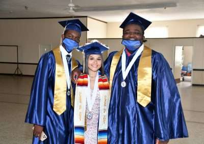 Cristo Rey Tampa Class of 2021 -all smiles before graduation