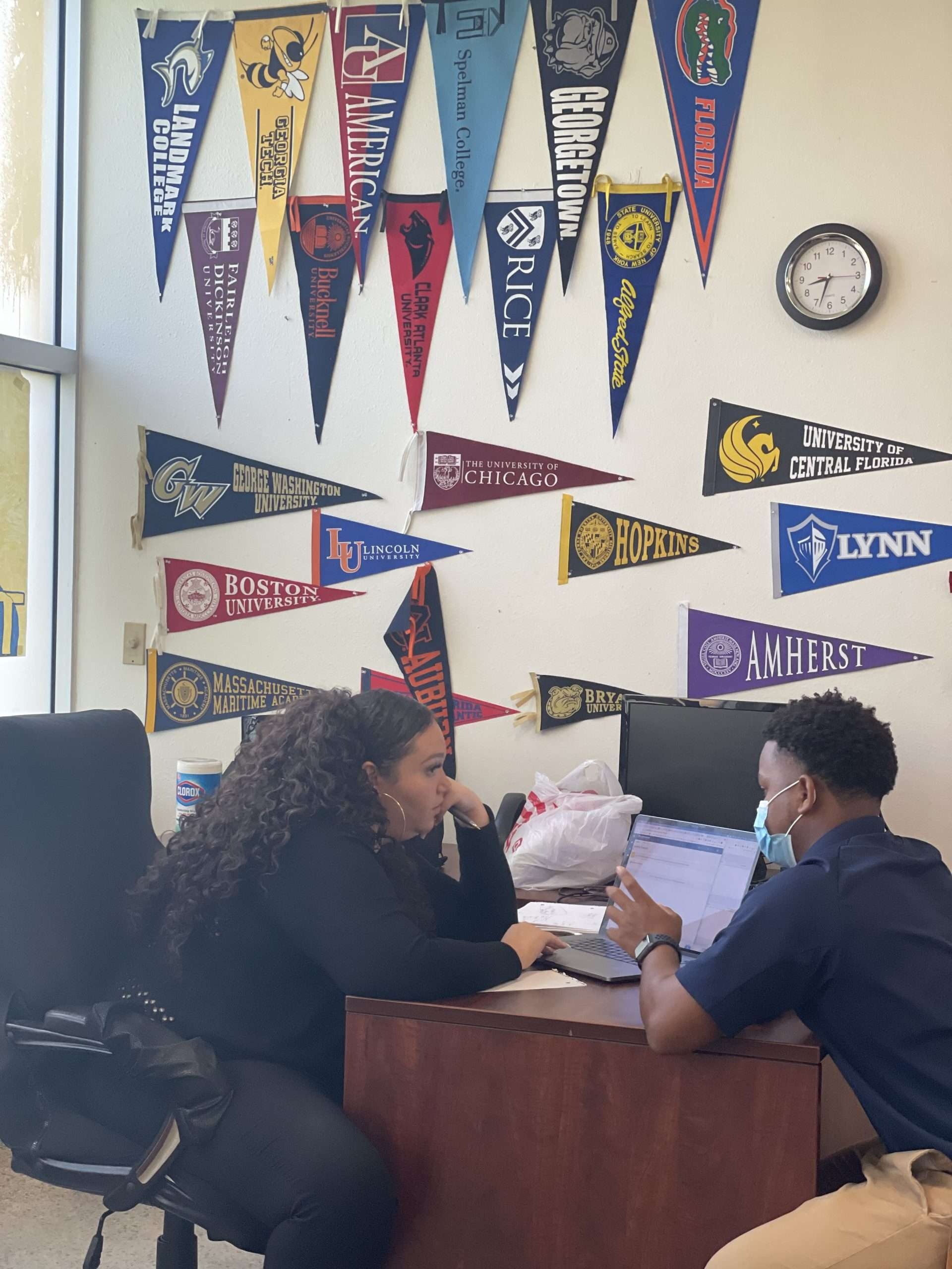 Class schedule planning with Director of College Counseling Ms. Smith